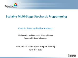 Scalable Multi-Stage Stochastic Programming