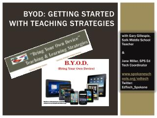 BYOD: Getting Started  with teaching strategies