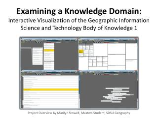 Project Overview by Marilyn  Stowell , Masters Student, SDSU Geography