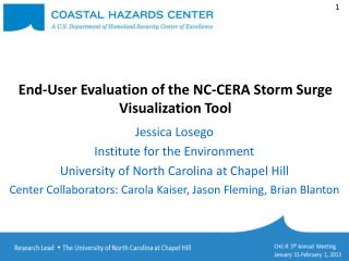 End-User Evaluation of the NC-CERA Storm Surge Visualization Tool