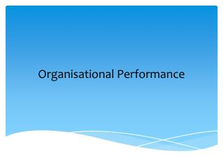 Organisational  Performance