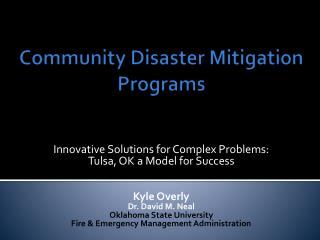 Community Disaster Mitigation Programs