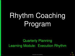 Rhythm  Coaching  Program