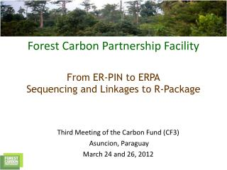 Third Meeting of the Carbon Fund (CF3)    Asuncion, Paraguay March 24 and 26, 2012