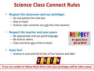 Science Class Connect Rules