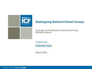 Redesigning National School Surveys