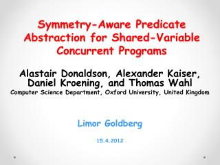 Symmetry-Aware Predicate Abstraction for Shared-Variable Concurrent Programs