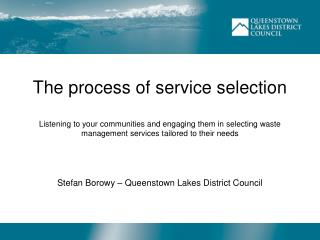 Stefan Borowy – Queenstown Lakes District Council