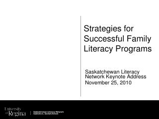 Strategies for Successful Family Literacy Programs
