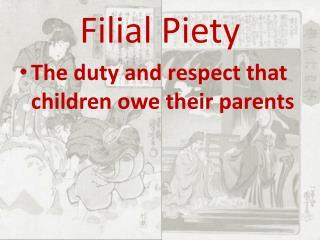 what do children owe their parents