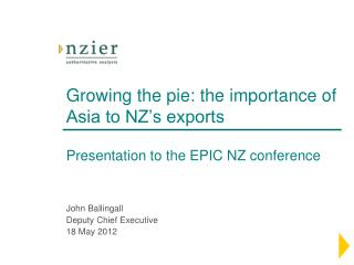 Growing the pie: the importance of Asia to NZ's exports