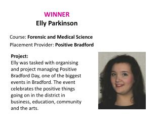 WINNER Elly  Parkinson