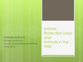 Animal Protection Laws and Animals in the Wild