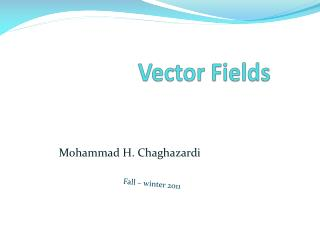 Vector Fields