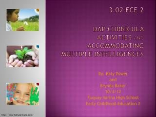 3.02 ECE 2 DAP Curricula activities  and  accommodating multiple intelligences