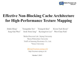 Effective Non-Blocking Cache Architecture for High-Performance Texture Mapping