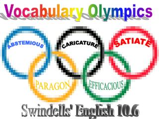 Vocabulary Olympics