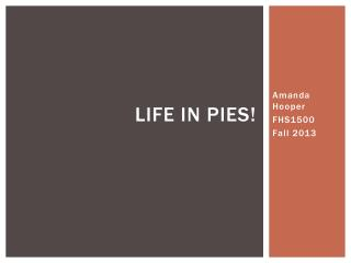 Life in Pies!