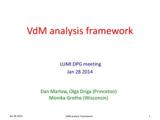 VdM analysis framework