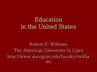 Education  in the United States