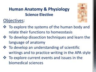 Human Anatomy & Physiology Science Elective