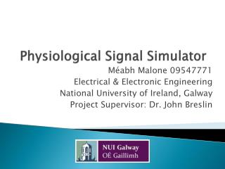 Physiological Signal Simulator