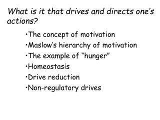 What is it that drives and directs one's actions?