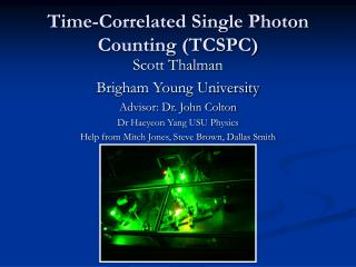 Time-Correlated Single Photon  Counting (TCSPC)