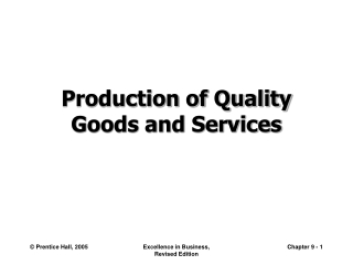 Total Quality Management and Mass Customization