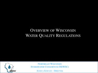Overview of Wisconsin Water Quality Regulations