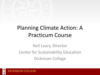 Planning Climate Action: A Practicum Course