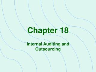 Internal Auditing and Outsourcing