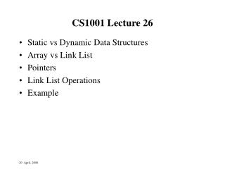 CS1001 Lecture 26