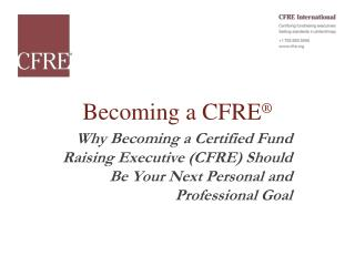 Becoming a CFRE ®
