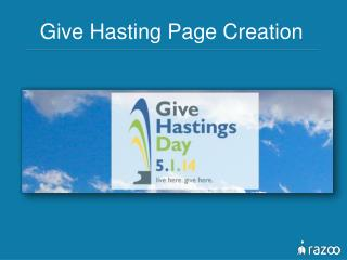 Give Hasting Page Creation