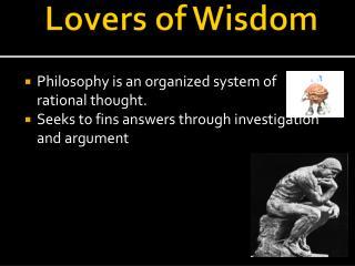 Lovers of Wisdom