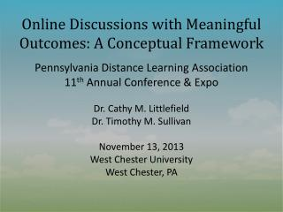 Online Discussions with Meaningful Outcomes: A Conceptual Framework