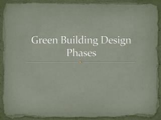 Green Building Design Phases