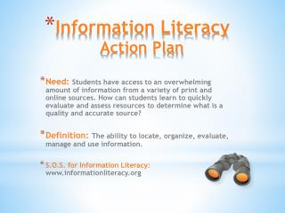 Information Literacy Action Plan