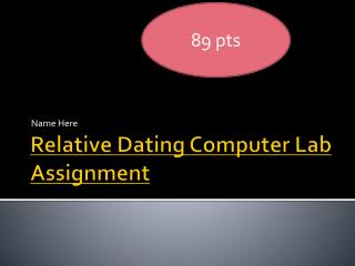 Relative Dating Computer Lab Assignment