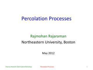 Percolation Processes