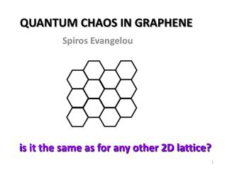 QUANTUM CHAOS IN GRAPHENE