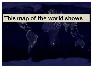 This map of the world shows...