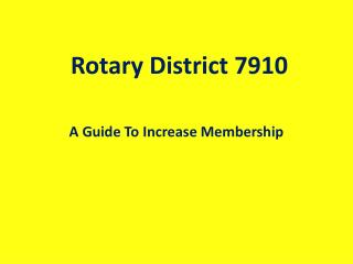 Rotary District 7910