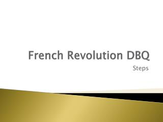 French Revolution DBQ