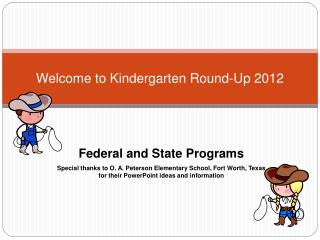 Welcome to Kindergarten Round-Up 2012