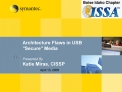 Architecture Flaws in USB Secure Media  Presented By Katie Miras, CISSP
