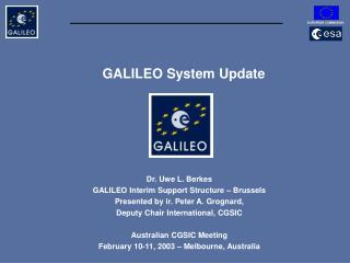 GALILEO System Update