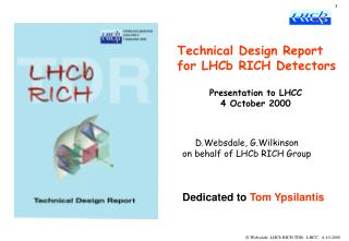 Technical Design Report for LHCb RICH Detectors