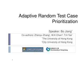 Adaptive Random Test Case Prioritization